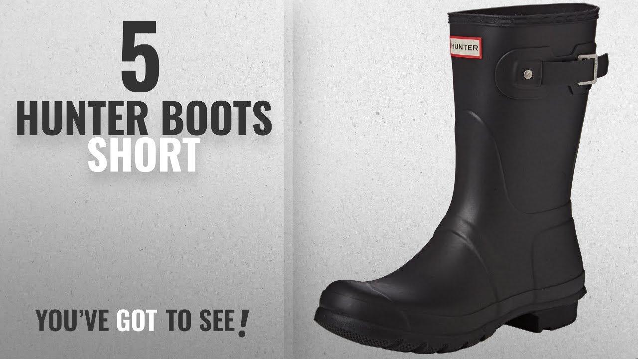 a1236a830544 Top 5 Hunter Boots Short  2018   Hunter Womens Original Short Black Matte  Rain Boot - 8 B(M) US