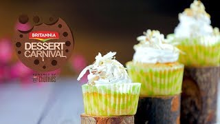 Pina Colada Cupcake Recipe By Kamini Patel | How To Make Cupcakes | Britannia Dessert Carnival