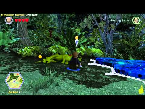 Lego Jurassic World: Dilophosaurus Territory FREE ROAM (All Collectibles) - HTG