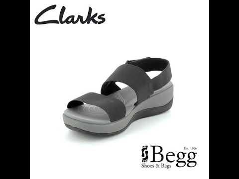 07a07ffdd00b97 Clarks Arla Jacory D Fit Black sandals - YouTube