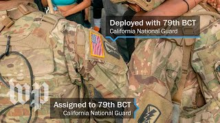 Here's how to identify law enforcement officers and National Guard units