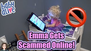 Baby Alive Emma Gets Scammed Online! Internet Safety! | Kelli Maple
