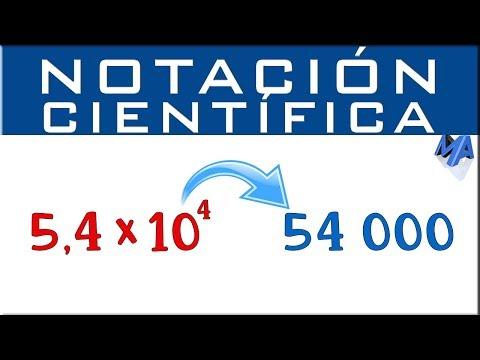 Pasar De Notacion Cientifica A Decimal Ejemplo 1 Youtube