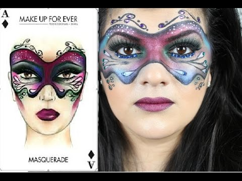 Masquerade Mask Halloween Makeup