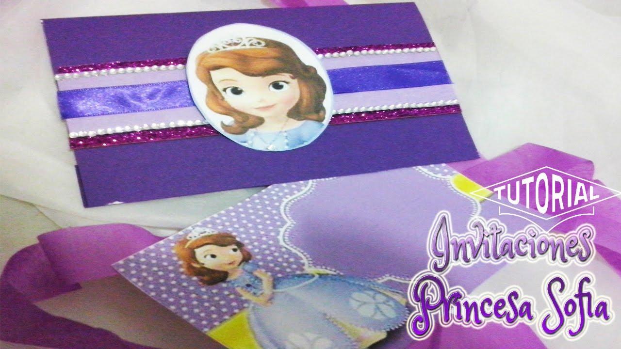 Invitaciones Para Fiesta De La Princesa Sofia