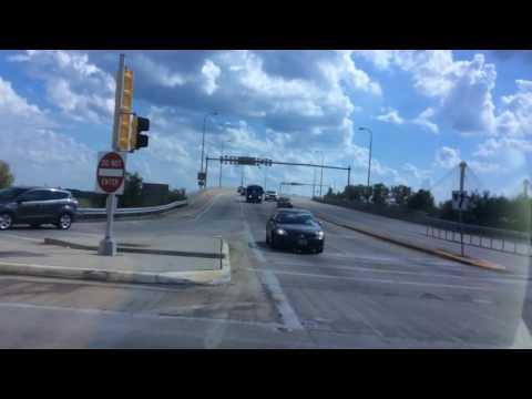 Crossing the Clark Bridge in Alton, IL to Missouri!