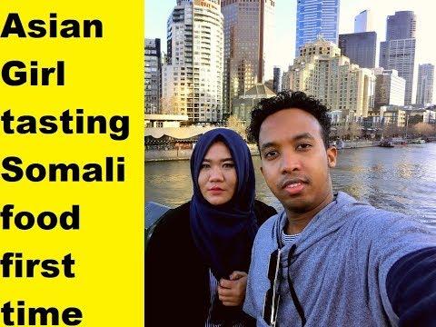 Indonesian Girl  Taste Test Somali Food