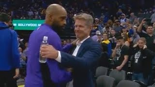 Vince Carter Apologizes to Warriors Players & Steve Kerr After Patrick McCaw's Injury!