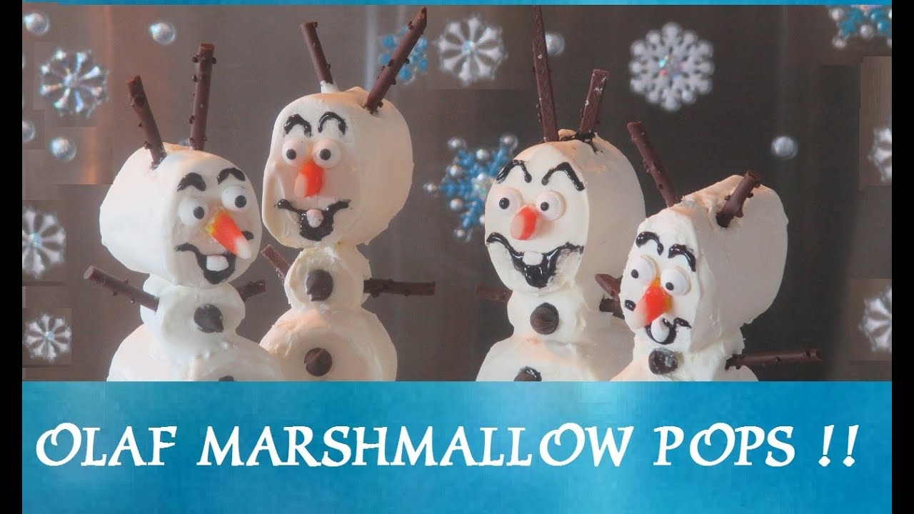 46c69ae76 FROZEN - Olaf Marshmallow Pops! Do you want to build a snowman? Inspired by  Disney Frozen Movie