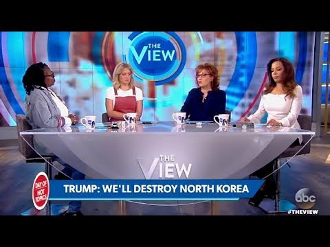 "TRUMP: Panel Talks His U.N. Quote ""Totally Destroy North Korea"" (The View)"