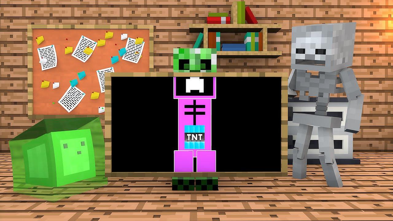 Minecraft Escola Monstro 48 O Corpo De Um Creeper