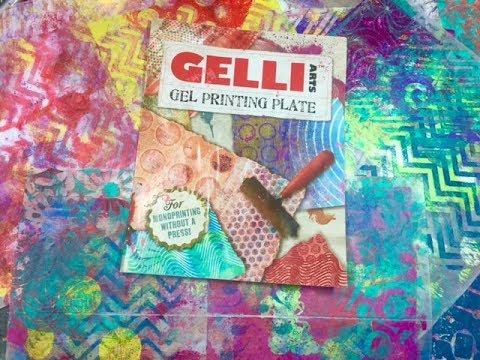 Gelli Arts Gel Printing plate and how I make my prints