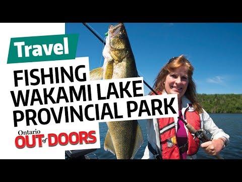 Fishing Wakami Lake Provincial Park