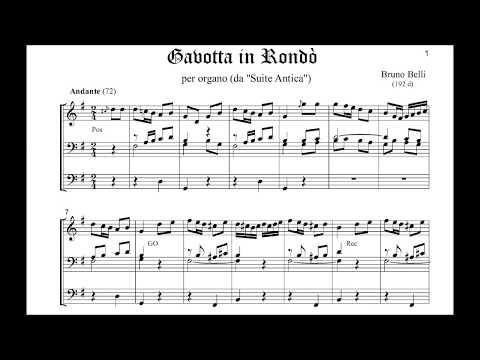 Belli - Suite Antica: Gavotta in Rondò per organo