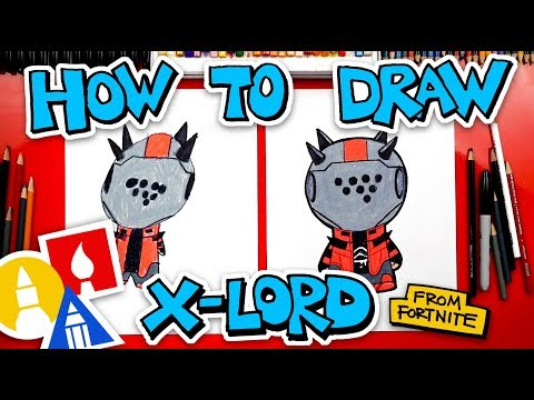 How To Draw X-Lord From Fortnite