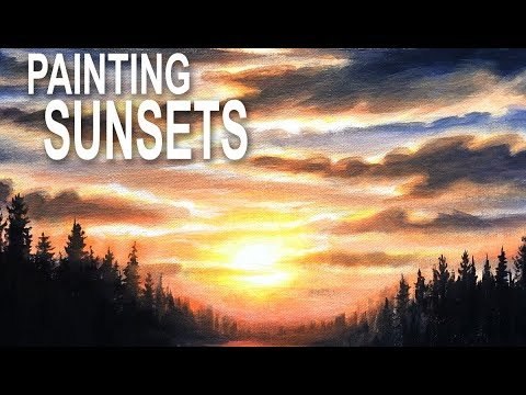 Painting a Realistic Sunset Sky with Acrylics
