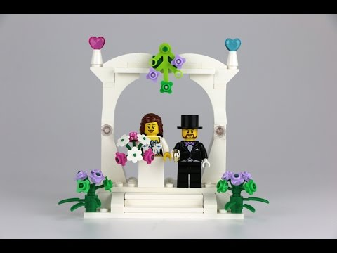 & LEGO Minifigure Wedding Favour Set 2016 - REVIEW 40165 - YouTube