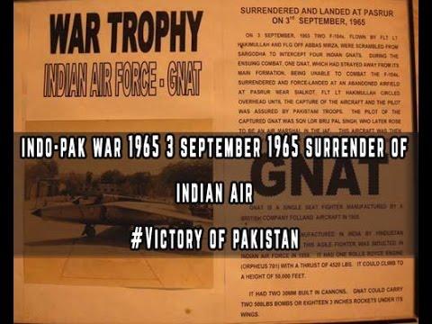 Indo-Pak War 1965 Surrender of Indian Air Force September 3