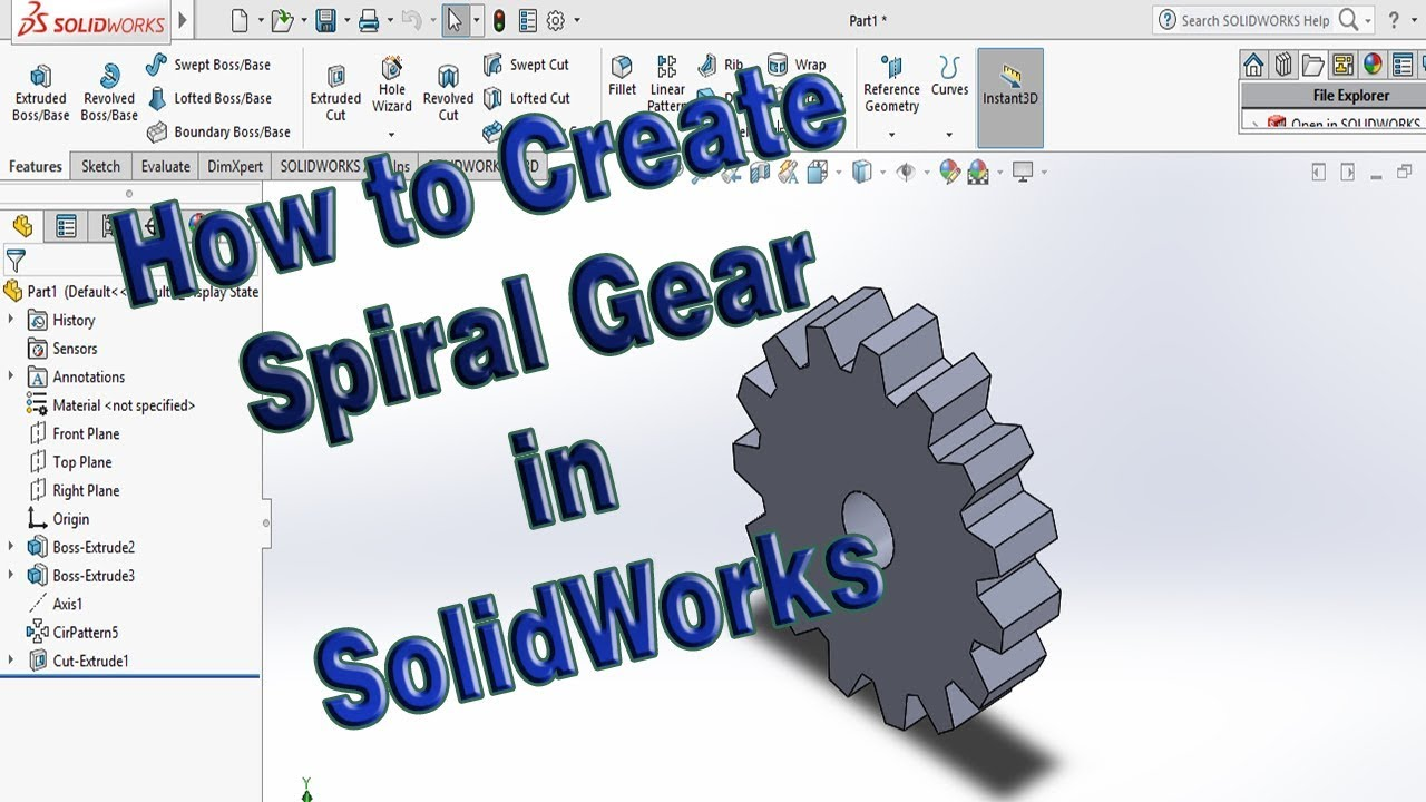 How to Make Gear Model in SolidWorks 2016