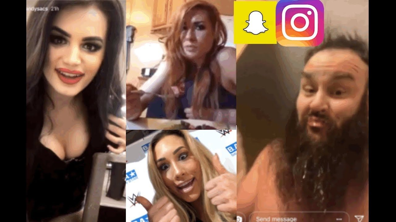 wwe snapchat/ig moments ft. braun strowman, becky lynch, paige