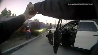 Body cam footage released of sword-wielding man shot, killed by police in Pomona | ABC7