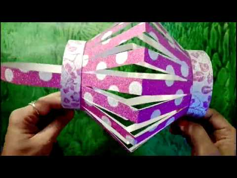 How to make a lantern for Diwali , Diwali decoration idea, Lantern making easy for kids