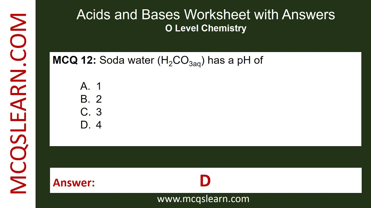 Acids and bases worksheet with answers mcqslearn free videos acids and bases worksheet with answers mcqslearn free videos robcynllc Image collections