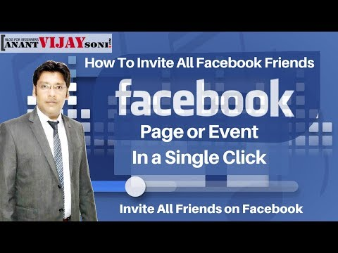 How To Invite All Facebook Friends In A Page Or Event In A Single Click