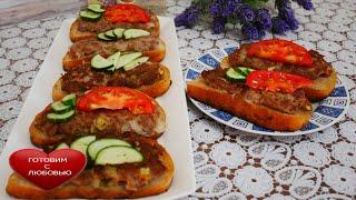 Бутерброды с фаршем на сковороде Бутерброды на праздничный стол ОВСЯНАЯ каша для детей