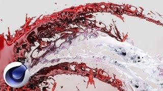 Cinema 4D – Как создать брызги крови в 3D Cinema 4D, RealFlow. [Уроки 3D]