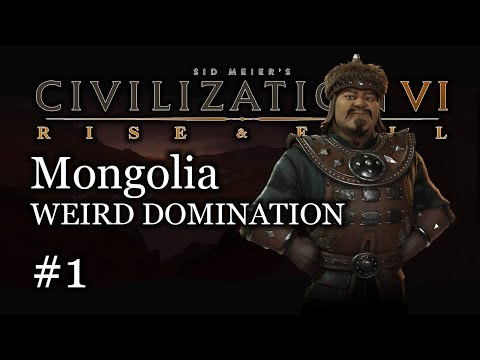 #1 Deity Mongolia Domination Let's Play -  Civ 6 Gameplay