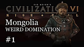 1 Deity Mongolia Domination Lets Play    Civ 6 Gameplay