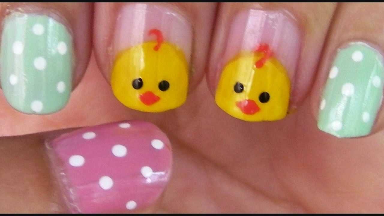 Easy Easter Nail Art Youtube