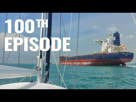 CLOSE ENCOUNTERS IN SHIPPING LANES! - SAILING FOLLOWTHEBOAT Ep 100