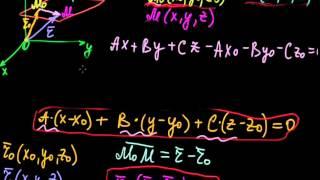 §37 Общее и векторное уравнение плоскости