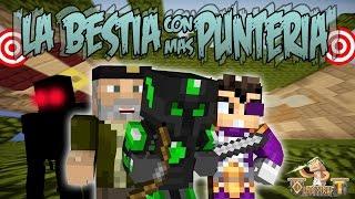 LA BESTIA CON MÁS PUNTERIA - Escapa De La Bestia c/ Willyrex Y Vegetta - MINECRAFT