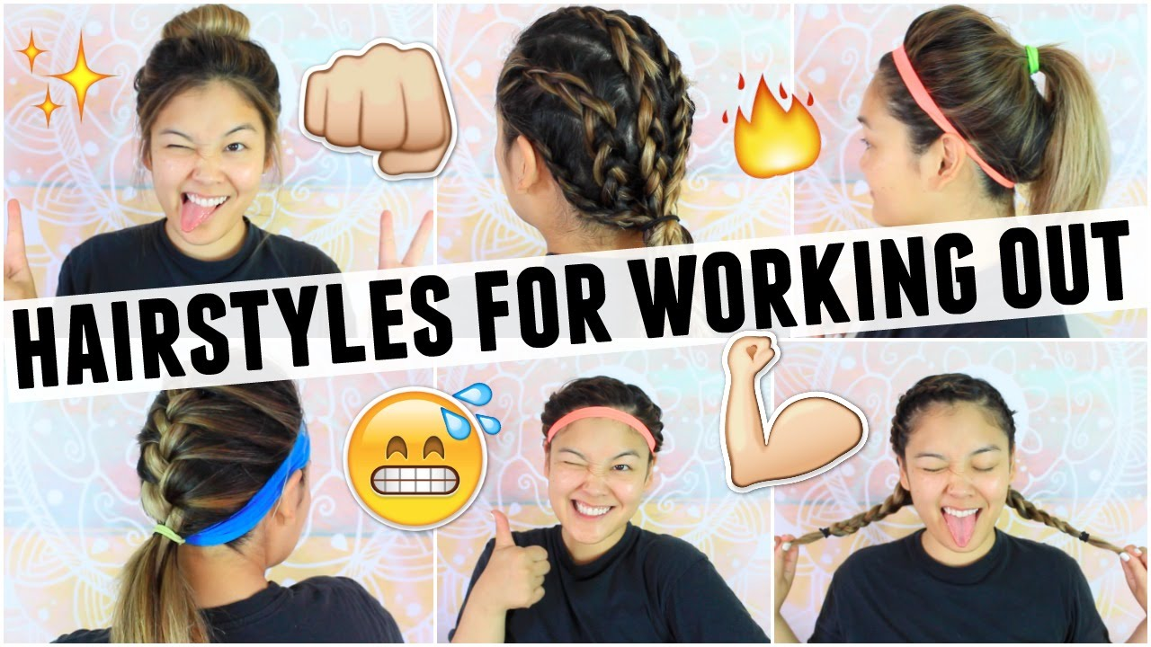 EASY HAIRSTYLES FOR WORKING OUT GYM CLASS JaaackJack YouTube