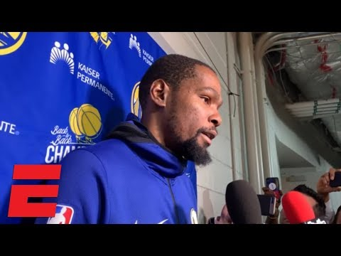 Kevin Durant on the Warriors' team effort, Steph Curry setting the tone | NBA 2018-19