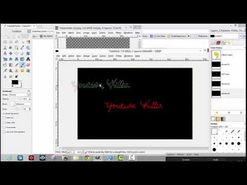 How to add cursive font to pictures using gimp youtube