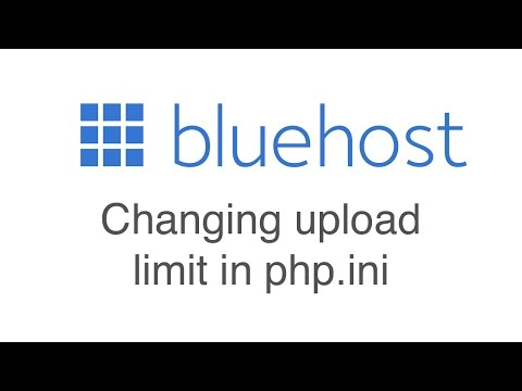 Changing your upload limit in the php ini file  - YouTube