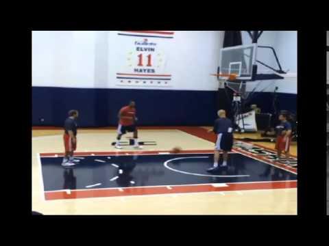 Paul Pierce training - Washington Wizards 2014/2015 NBA