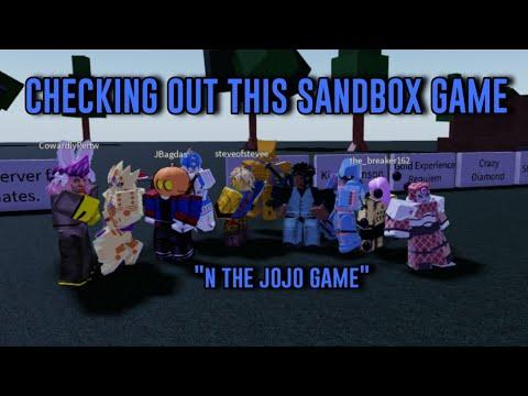 Checking Out A NEW EPIC Roblox Jojo Sandbox Game!