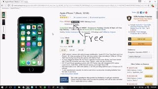 amazon HACKED FREE IPHONE  7 (100 % working ) with proof