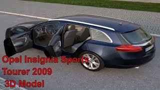 3D Model of Opel Insignia Sports Tourer (2009) Review