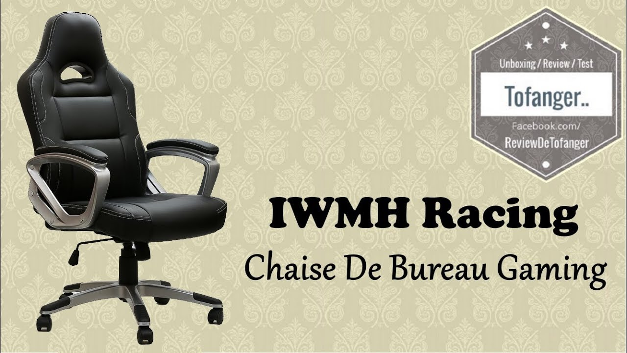 iwmh racing chaise de bureau gaming top youtube. Black Bedroom Furniture Sets. Home Design Ideas