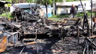Imatges del dia després de l'incendi al càmping Internacional d'Encamp
