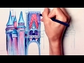 A Little Magic: Speed drawing of the Disney Castle!