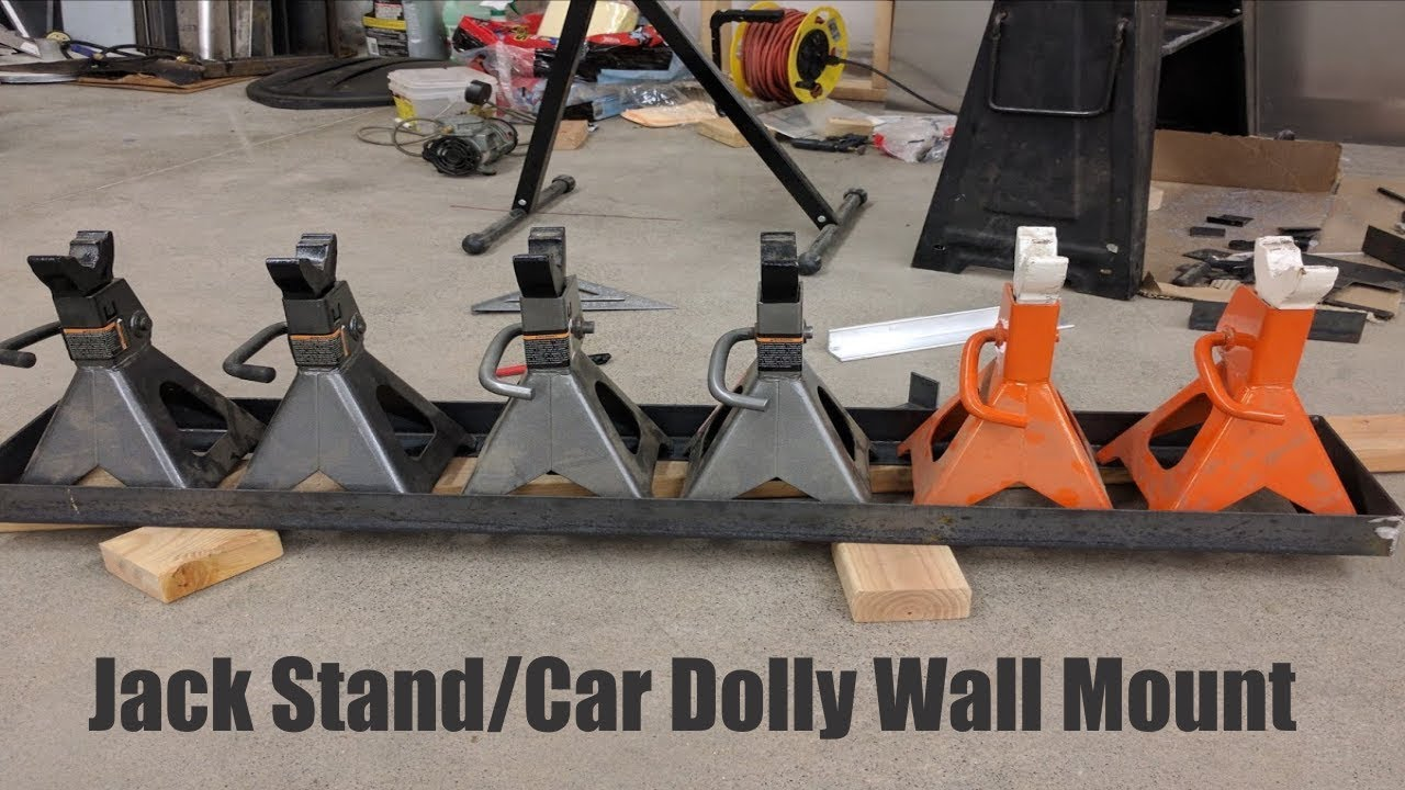 Harbor Freight Jack Stand Car Dolly Wall Mount