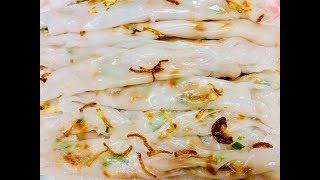 Bánh ướt tráng chảo (Steamed thin rice pancake) - - Bếp Nhà Nội