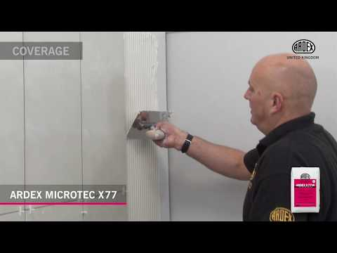 Ardex Microtec X 77 Flexible Wall Floor Tile Adhesive Youtube